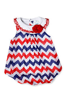 Nursery Rhyme Americana Chevron Bubble Romper