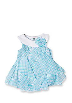 Nursery Rhyme Blue Gingham Bubble Romper