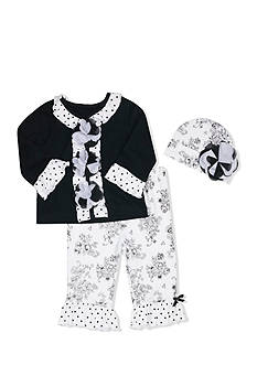 Nursery Rhyme Damask 3-Piece Set Infant/Baby Girls