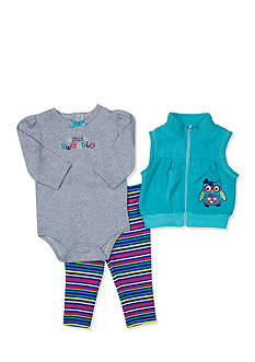 Nursery Rhyme Owl 3-Piece Vest Set Infant/Baby Girls