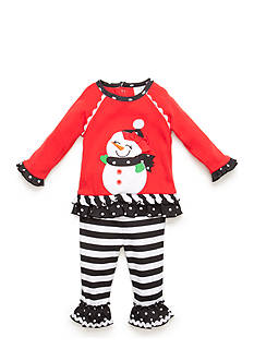 Nursery Rhyme Snowman Shirt and Leggings 2-Piece Set