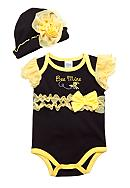 Nursery Rhyme® Bee Mine Creeper Hat Set