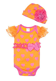 Nursery Rhyme Heart Print Bodysuit