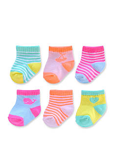 Carter's® Girls 6Pk Computer Socks