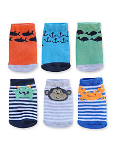 Carter's® Boys 6-Pack Terry Character Face Socks