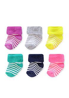 Carter's® 6-Pack Stripe Terry Socks