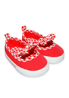 Carter's Gingham Bow Skimmer Shoes