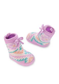 Carter's Baby Girl Knit-In Slipper Sock Crib Shoes