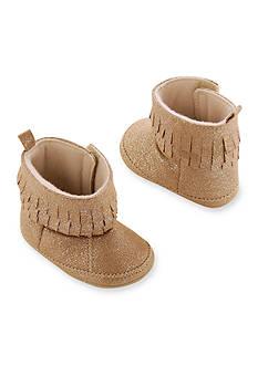 Carter's Baby Girl Glitter Fringe Moccasin Boot Crib Shoe