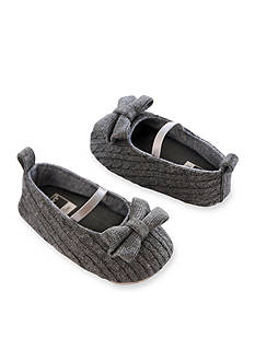 Carter's Baby Girl Cable Knit Gray Mary Jane Crib Shoes