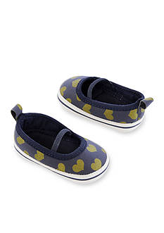 Carter's Baby Girl Heart Mary Jane Crib Shoes