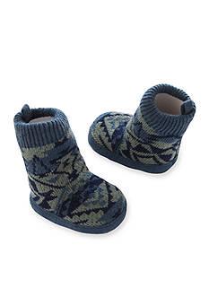 Carter's Baby Boy Navy Knit-In Slipper Sock Crib Shoes