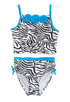 Flapdoodles Zebra Chic 2-Piece Swimsuit Toddler Girls
