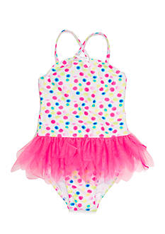 Flapdoodles 2-Piece Dot Tutu Tankini Toddler Girls