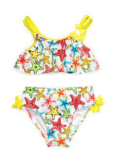 Flapdoodles 2-Piece Starfish Bikini Toddler Girls