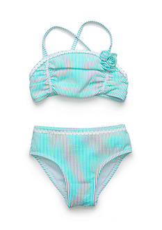 Flapdoodles 2-Piece Seersucker Bikini Toddler Girls