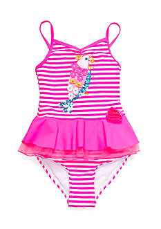 Flapdoodles 2-Piece Parrot Stripe Tankini Toddler Girls