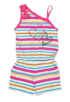 Flapdoodles Striped Romper Toddler Girls