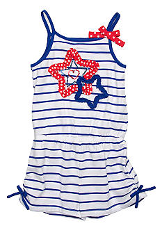 Flapdoodles Star Romper Toddler Girls
