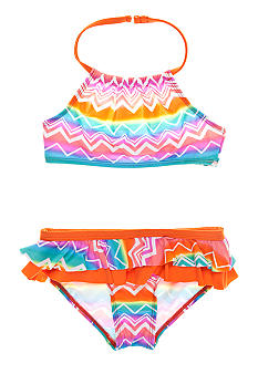 Beach Native Beach Chevron 2-piece Swim Suit Toddler Girls