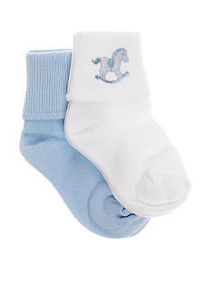 Nursery Rhyme 2-Pack Horse Applique Socks