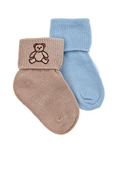Nursery Rhyme 2-Pack Bear Applique Socks