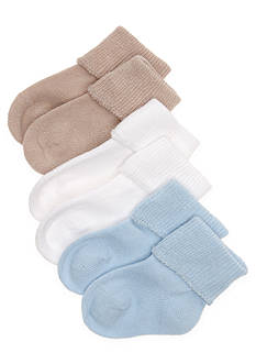 Nursery Rhyme Set of 3 Turn Cuff Socks