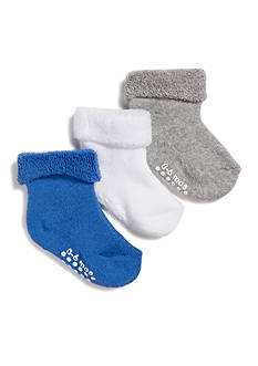 Nursery Rhyme 3-Pack Turn-Cuff Gripper Socks