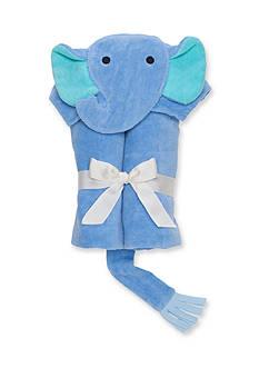 Elegant Baby Blueberry Elephant Baby Bath Wrap