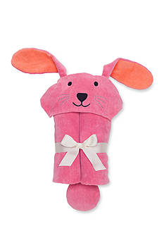 Elegant Baby Raspberry Bunny Baby Bath Wrap