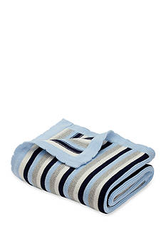 Elegant Baby Stripe Cotton Knit Blanket