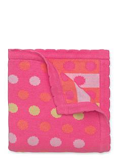 Elegant Baby Polka Dot Knit Blanket