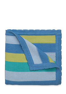 Elegant Baby Stripe Knit Blanket