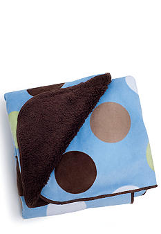 Carter's Large Dot Velour Sherpa Blanket