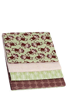 Carter's 4-Pack Monkey Receiving Blanket Set
