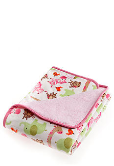 Carter's Pink Safari Velour Blanket
