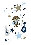 Carter's® Monkey Rockstar Wall Decals