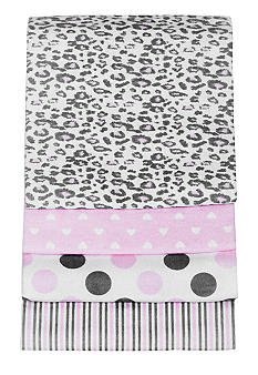 Carter's 4-Pack Cheetah Receiving Blanket Set