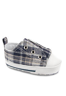Nursery Rhyme Plaid Laceless Sneaker