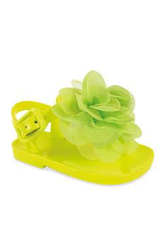 Nursery Rhyme® Lime Molded T-Strap Thong Sandal