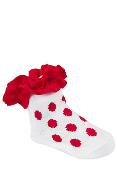 Nursery Rhyme 2-pair Red & White Sock Set