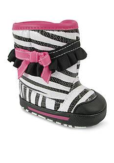Nursery Rhyme® Zebra Shimmer Boots Infants