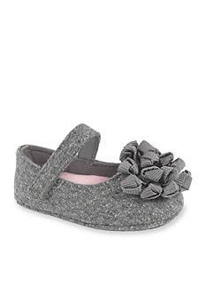 Nursery Rhyme® Gray Shimmer Skimmer w/Webbed Knotted Pom Ornament