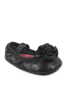 Nursery Rhyme® Black Metallic Foldable Ballet Shoe