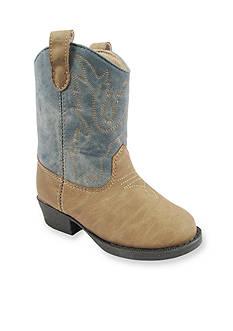 Nursery Rhyme® Tan Leather-Like Hook & Loop Western Boot