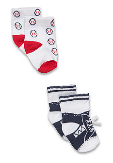 Nursery Rhyme Newborn Boy 2 pack Sport Sock