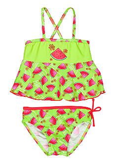 J Khaki 2-Piece Watermelon Swimsuit Toddler Girls