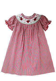 Marmellata Ladybug Smocked Dress Toddler Girls