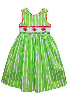 Marmellata Watermelon Smock Sundress Toddler Girls