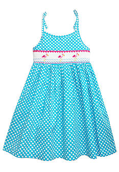 Marmellata Flamingo Smock Sundress Toddler Girls